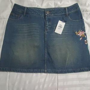 Jean skirt, brand new!